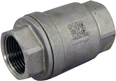 "3/4"" Check Valve Stainless Steel WOG 1000 In-line Low Cracking Pressure Metal... from Duda Diesel"