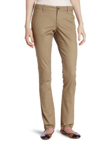 Dickies Girl Junior's Original 4 Pocket Skinny Leg Pant, Khaki, 7