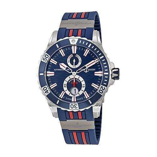 Ulysse Nardin Maxi Marine Diver Blue Dial Blue Rubber Mens Watch 263-10-3R-93