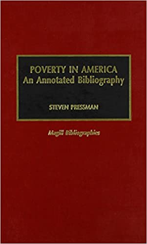 Poverty in America. An Annotated Bibliography