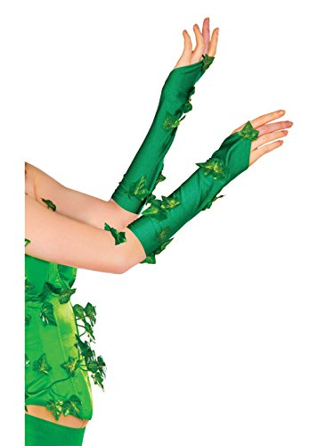Rubie's 38033 Women's DC Comics Poison Ivy Glovelette Costume, One Size, Green ()