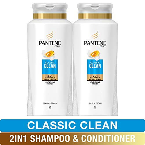 Pantene, Shampoo and Conditioner 2 in 1, Pro-V Classic Clean, 25.4 fl oz, Twin Pack