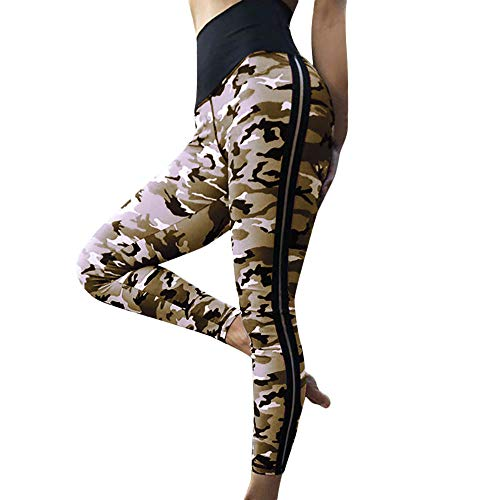 ttery Soft Tummy Control Camo Jogger Capri Workout Running Sports Leggings for Women ()