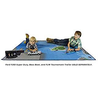 "Big Country Toys Jumbo Fishing Play Mat - Measures 58"" x 79"" - Fishing Play Set Accessory - Lake Design for Fishing Fun"