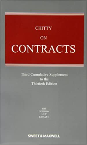 Book Chitty on Contracts: 3rd Supplement (Common Law Library)