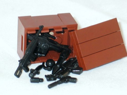 BrickArms LEGO Custom Supply Crate Guns, Ammo, Grenades More!