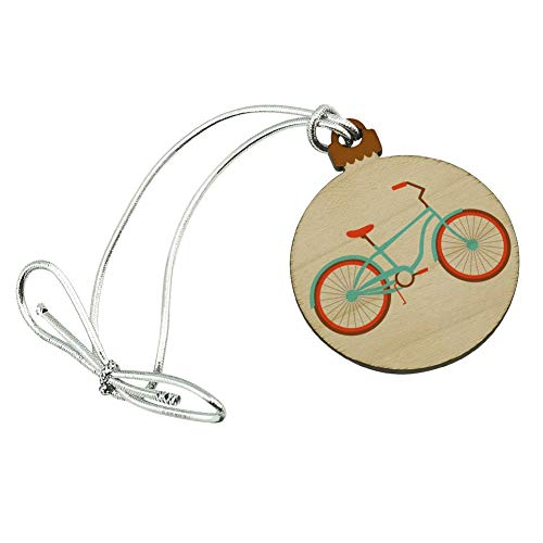 GRAPHICS & MORE Bicycle Bike Cycling Cycle Mini Small Tiny Wood Christmas Tree Holiday Ornament (Ornament Bicycle Holiday)