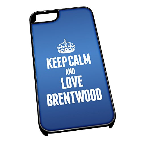 Nero cover per iPhone 5/5S, blu 0096 Keep Calm and Love Brentwood