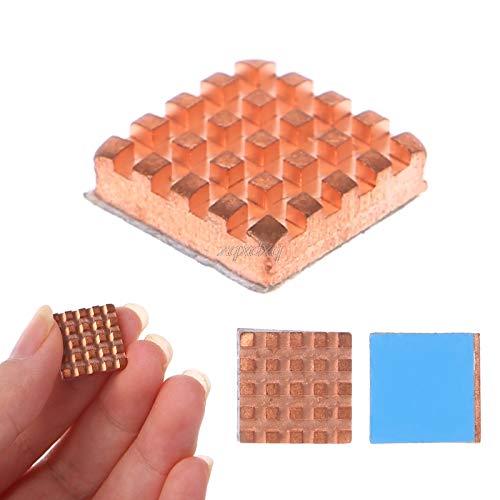 PrinceShop - Copper Heat Sink Back Heatsink Cooler For VGA GPU DDR DDR2 DDR3 RAM Memory IC Chipset Cooling 1.4x1.4x0.4cm
