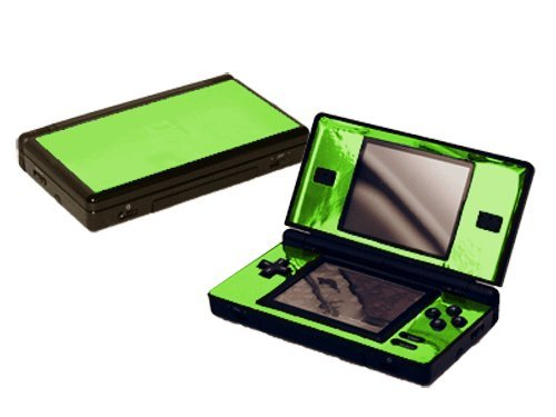 - Nintendo DS Lite Skin (DSL) - NEW - LIME CHROME MIRROR system skins faceplate decal mod