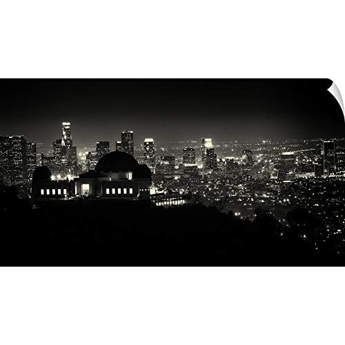 CANVAS ON DEMAND View of Los Angeles at Night from The Griffith Park Observatory Wall Peel Art Print, 60