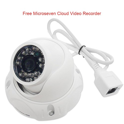 Microseven M7D12-POE / 960P POE 3MP 2.8mm Lens HD Outdoor IP Camera 20M IR ICR Infrared Night Vision P2P ONVIF +Free 24hrs video history in cloud video recorder & Live Streaming on microseven.tv
