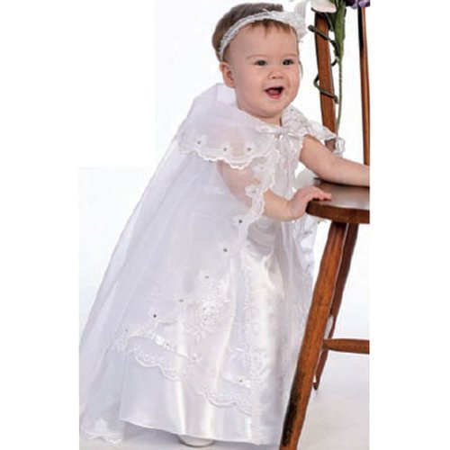 Angels Garment White Dress Size 4T Girl Organza Guadalupe Embroidery by Angels Garment
