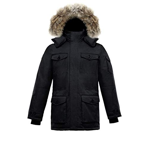 Triple F.A.T. Goose SAGA Collection | Eldridge Mens Parka Jacket (Medium, Charcoal)