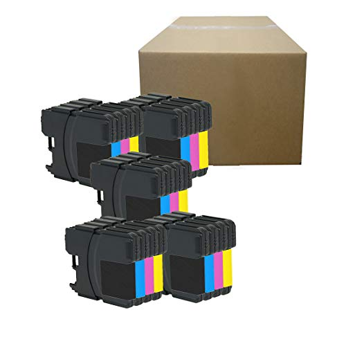 - Inktoneram Compatible Ink Cartridges Replacement for Brother LC61 LC-61 DCP-165C DCP-385C DCP-395CN DCP-585CW DCP-J125 MFC-250C MFC-255CW MFC-290C MFC-295CN MFC-490CW MFC-495CW (5BK,5C,5M,5Y, 20PK)