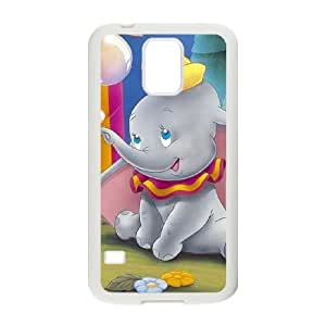 Samsung Galaxy s5 White Cell Phone Case Dumbo LWDZLW0318 Phone Case Cover Plastic Design