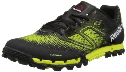 Reebok Men's All Terrain Super Running Shoe,Black/Neon Yellow/White/China Red,7 M US