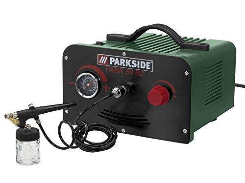 Set de aerógrafo Parkside, PABK 60 B2 con compresor de aire sin mantenimiento y con baja emisión de ruido: Amazon.es: Bricolaje y herramientas
