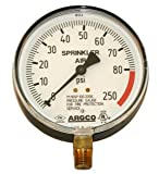 Fire System Pressure Gauge 0-80-250# Air With Retard