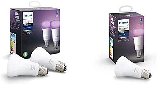Philips Hue Pack de 2 Ampoules LED Connectées White & Color Ambiance...