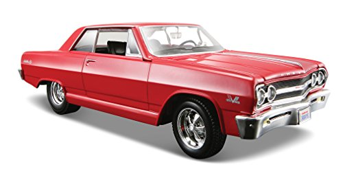 Maisto 1:24 Scale 1965 Chevrolet Malibu SS Diecast Vehicle (Colors May Vary) 24 Kids Plastic Car