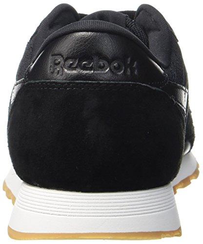 Schwarz Nylon Sneaker Reebok Classic Black HS Herren gum White qCwIX