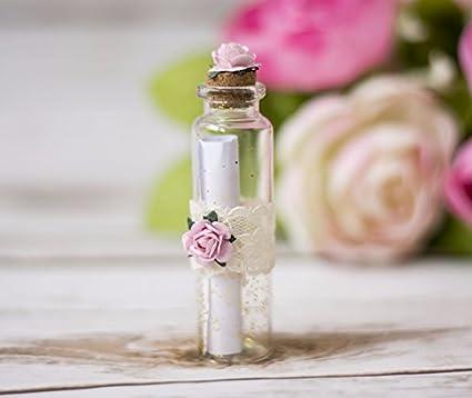 Happy Wedding Tipo willst Du Mis Trau zeugin ser Botella Botella Post Cristal Boda Invitación Trau zeugin: Amazon.es: Juguetes y juegos