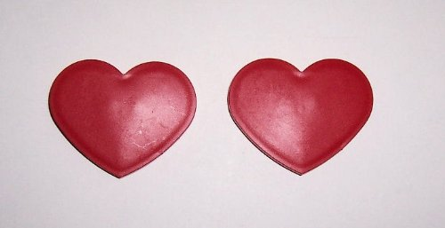 """""""ABC Products"""" -Offer is For 2 ~ Heart Shaped Strong Magnets - Use On Metal Surfaces (Bright Red Finish - Excellent For Holding photos, artwork, notes and more - Made in America)"""