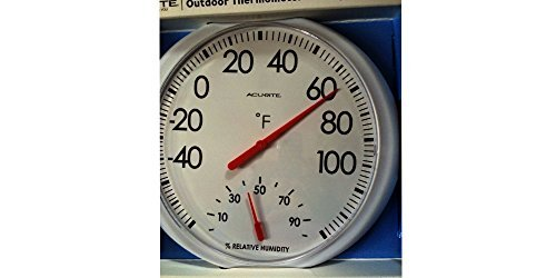 Indoor/Outdoor Thermometer with Humidity 13.5 inches