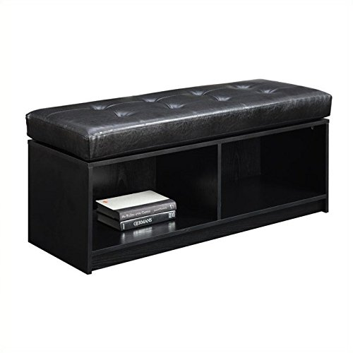 Convenience Concepts Designs4Comfort Contemporary Broadmoor Storage Ottoman, Black ()