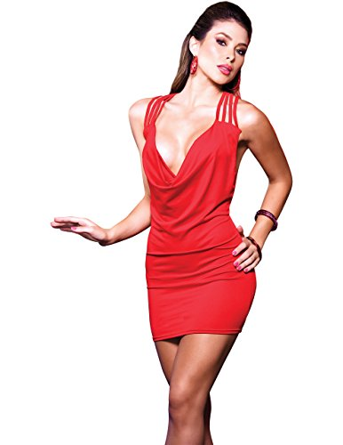 Cowl Neck Tank Dress in Red, Medium Cowl Neck Tank Dress