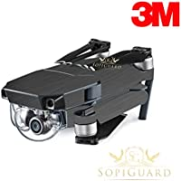 SopiGuard 3M Brushed Gunmetal Precision Edge-to-Edge Coverage Vinyl Skin Controller Battery Wrap for DJI Mavic Pro
