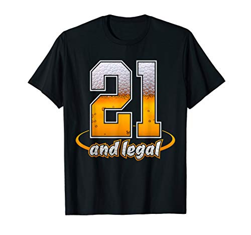 21 and Legal Beer for His & Her 21st Milestone Birthday Gift T-Shirt