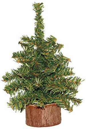 Brown Northlight Mini Pine Artificial Christmas Tree in Wood Base