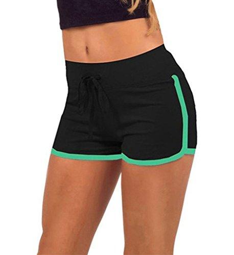 Yoga In Ragazze Esecuzione Pantaloncini Estate Casuale Pantaloncini Minetom Nero Sport Formazione Tempo verde Donne Libero 8z7qwv5