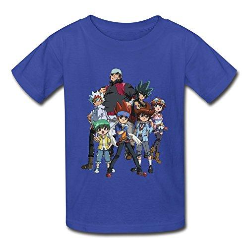 Seico Beyblade Metal Fury T-shirt For Unisex Kids XL Roya...