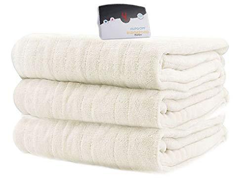 Biddeford 2031-905191-705 MicroPlush Electric Heated Blanket Full Ivory