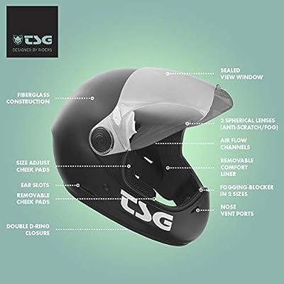TSG - Pass Full-face Helmet with Two Visors Included | for Downhill Skateboarding, E-Skating, E-Onewheeling, Longboarding | Gloss Marsh : Sports & Outdoors