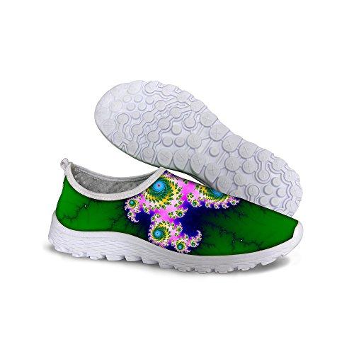 För U Designar Snygga Kvinna Ventilerande Mesh Vandringsled Löparskor Gröna 3