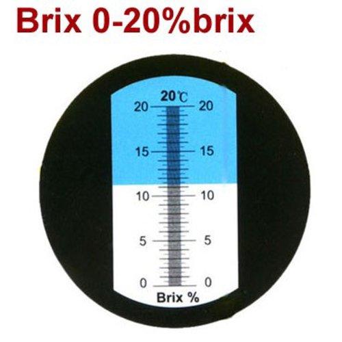 Sinoteh 6pcs/1lot Hand Held Low Brix Refractometer Cutting Liquids Refractometer Rhb-20atc 0-20% Brix Blue Grip