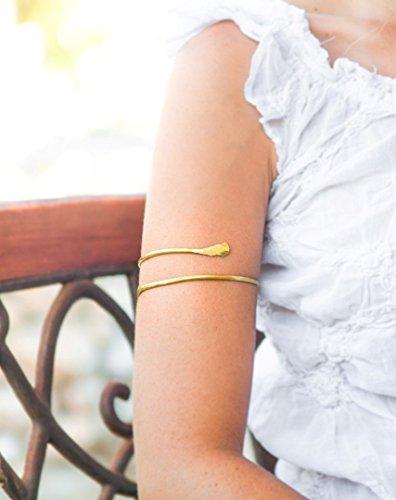 Amazoncom Gold Arm cuff Handmade Upper arm bracelet Brass Armlet