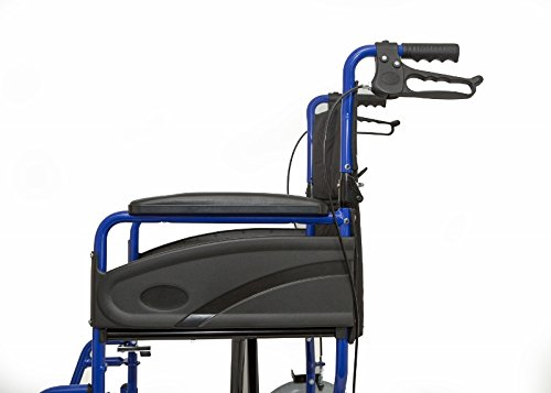 Dash Express Ultra Lightweight Folding Attendant Propelled Wheelchair with...