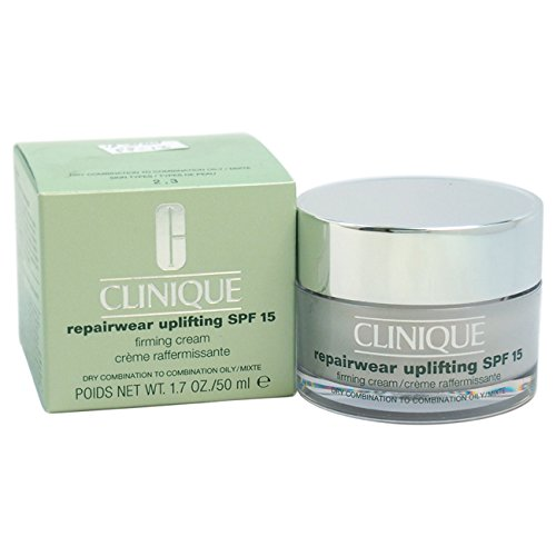 Clinique Repair Wear Uplifting SPF 15 Firming Cream Dry Combination to Oily Skin for Unisex, 1.7 Ounce