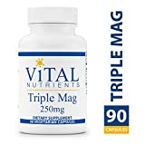 Vital Nutrients - Triple Mag 250 mg - Magnesium for Enhanced Absorption and Metabolism - Contains Magnesium Oxide, Malate and Glycinate - 90 Vegetarian Capsules per Bottle