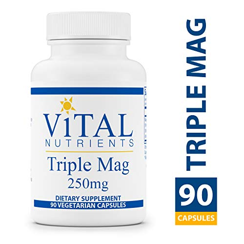 Vital Nutrients - Triple Mag 250 mg - Magnesium for Enhanced Absorption and Metabolism. Contains Magnesium Oxide, Malate and Glycinate - 90 Vegetarian Capsules per Bottle -