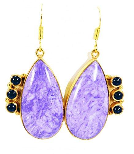 Riyo charolite 18 kt or y joyaux de la mode des bijoux de l 2.7in gemmes femme violet