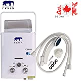 FVSTR 2 GPM Portable Tankless Hot LPG Water Heater RV's & Campers Propane Gas LPG 6L