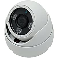 Kenuco 3 MP 4 in 1 HD TVI / CVI / AHD / Analog CVBS 1536P Infrared Dome Camera : White, Fixed 2.8mm Lens