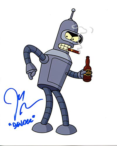 John DiMaggio Signed / Autographed 8x10 Glossy Photo as Bender from Futurama. Includes Fanexpo Certificate of Authenticity and Proof of signing. Entertainment Autograph Original. Bender the robot, Jake the dog. Adventure time, Futurama