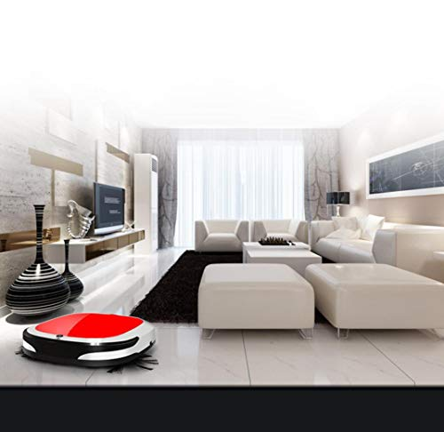 DICPOLIA Smart Home Robot Vacuum Cleaner, App Controls with Cleaning Status Map and Online Service, Alexa Connectivity, Max Suction, Plan Cleaning for Hard Floors and Thin Carpets (Red)